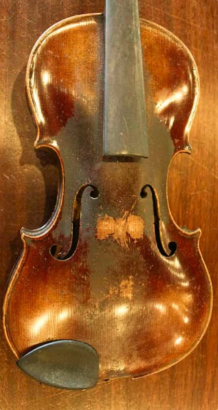 Before Violin Repair