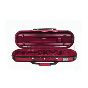 Burgundy Tonareli Ultra Light Oblong Violin Case